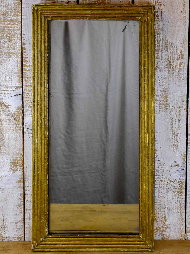 Small rectangular 18th Century Louis XVI mirror with gilded frame