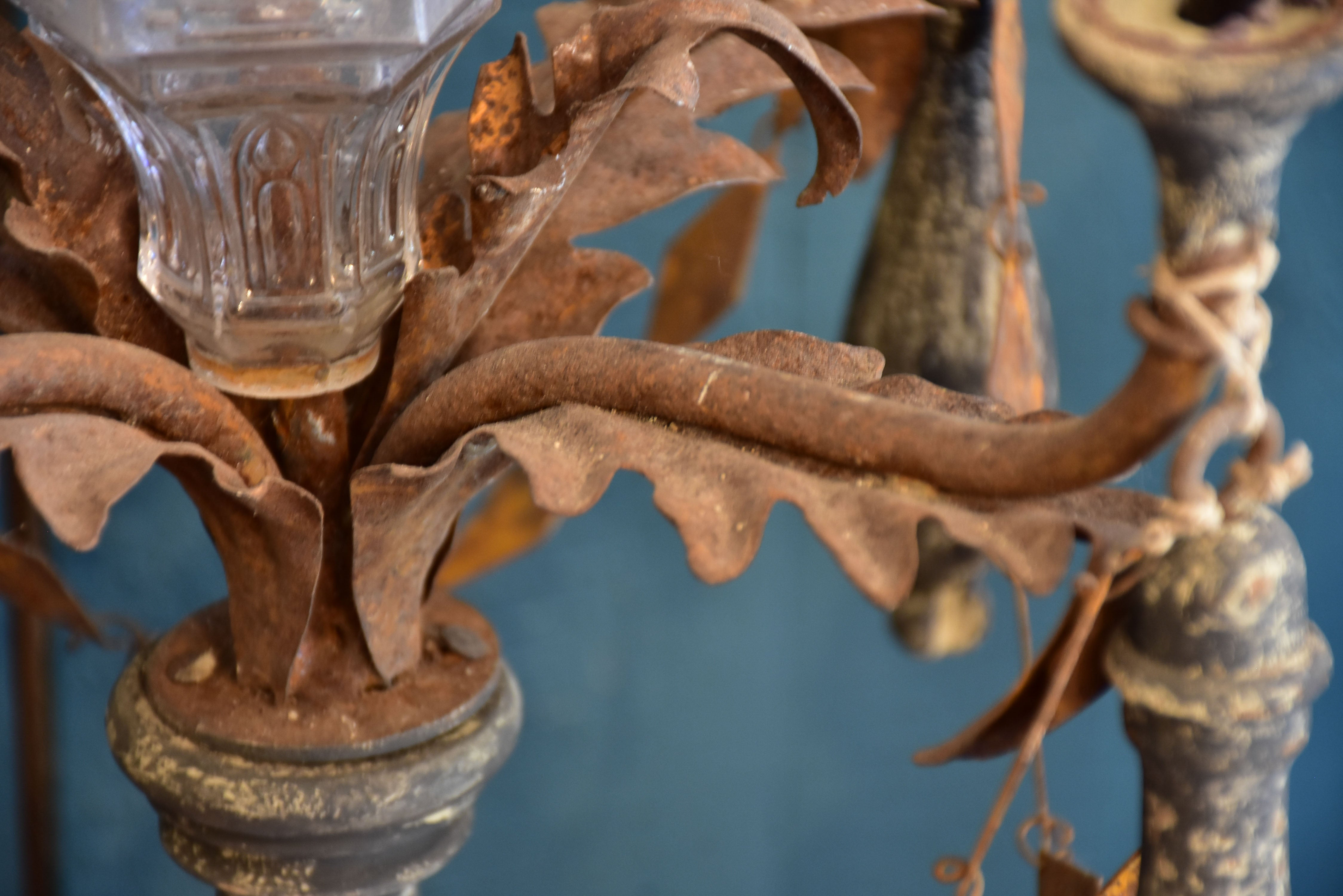 Salvaged antique candelabra