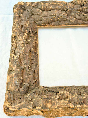 "Antique French frame made from cork 22"" x  24½"""