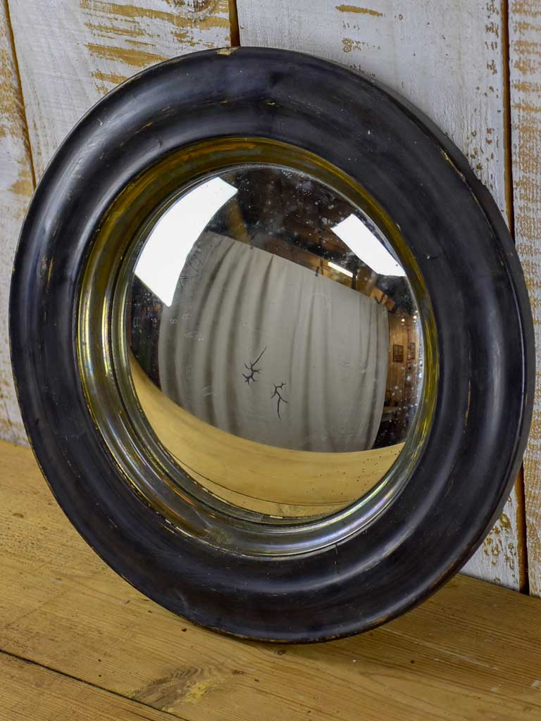Napoleon III convex mirror with black frame 14½""