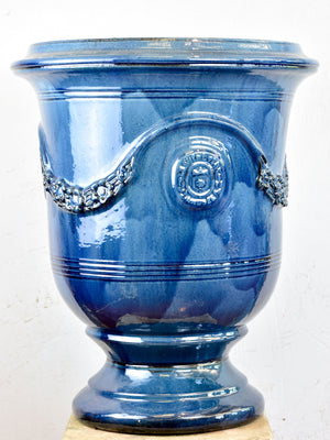 French Anduze garden urn - blue