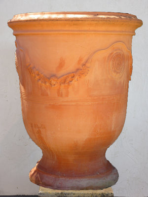 French Anduze garden urn - natural