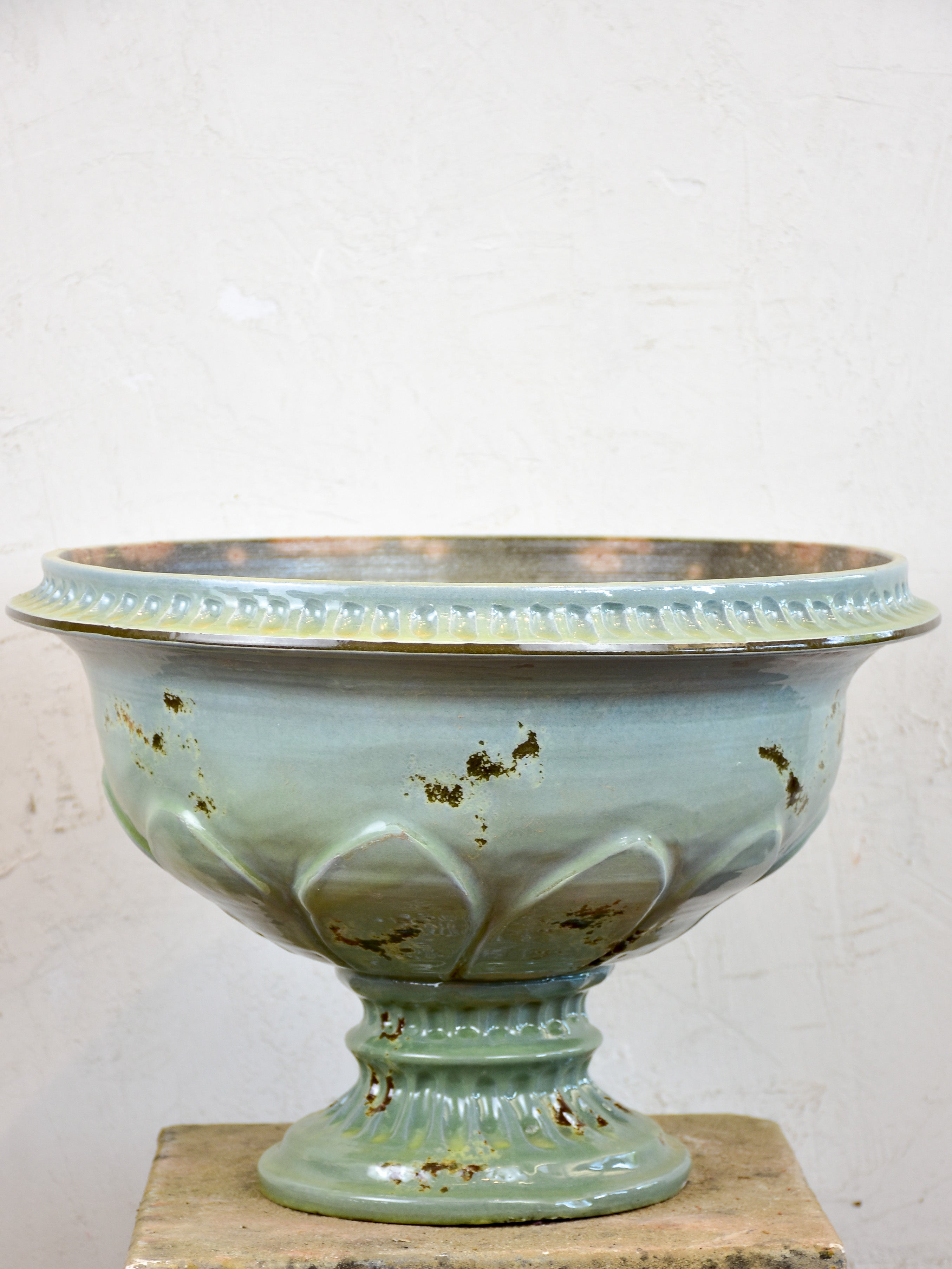 Handcrafted French terracotta medici urns