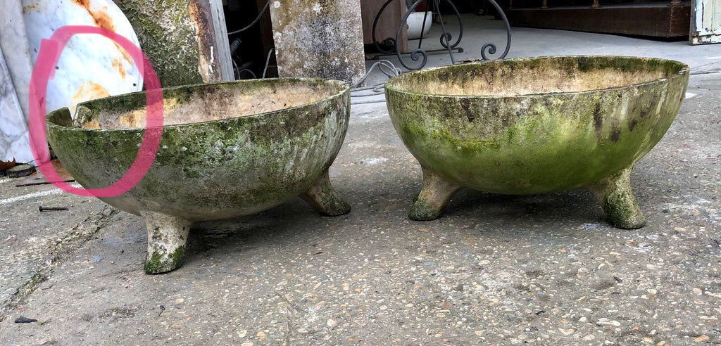Pair of cup shaped Willy Guhl planters