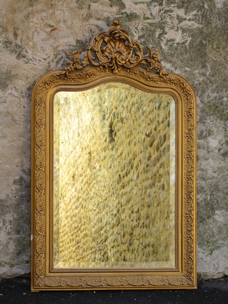 Louis XV style decorative large gilt mirror
