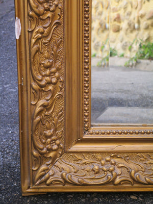 19th century Louis Philippe mirror with crest