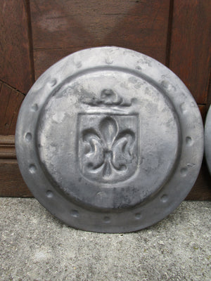 Pair of French pewter plates