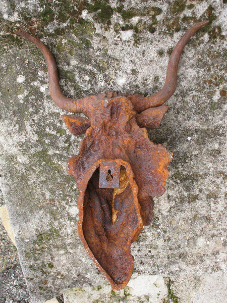 Back - Rustic bulls head french farmhouse decor