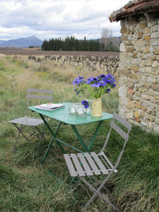 Rustic iron folding garden table