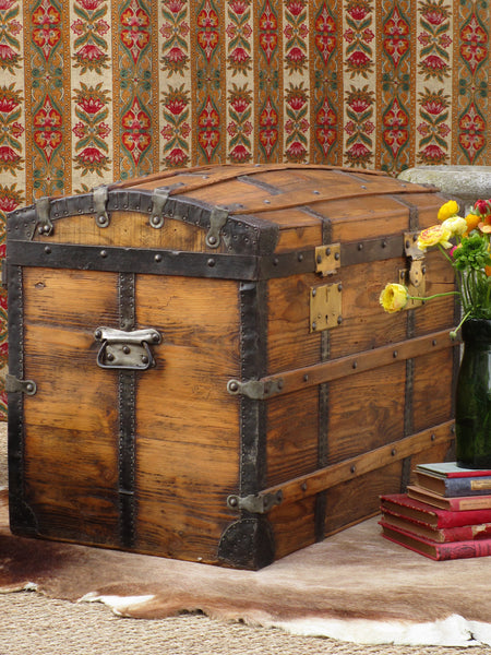 19th century French chariot chest or trunk
