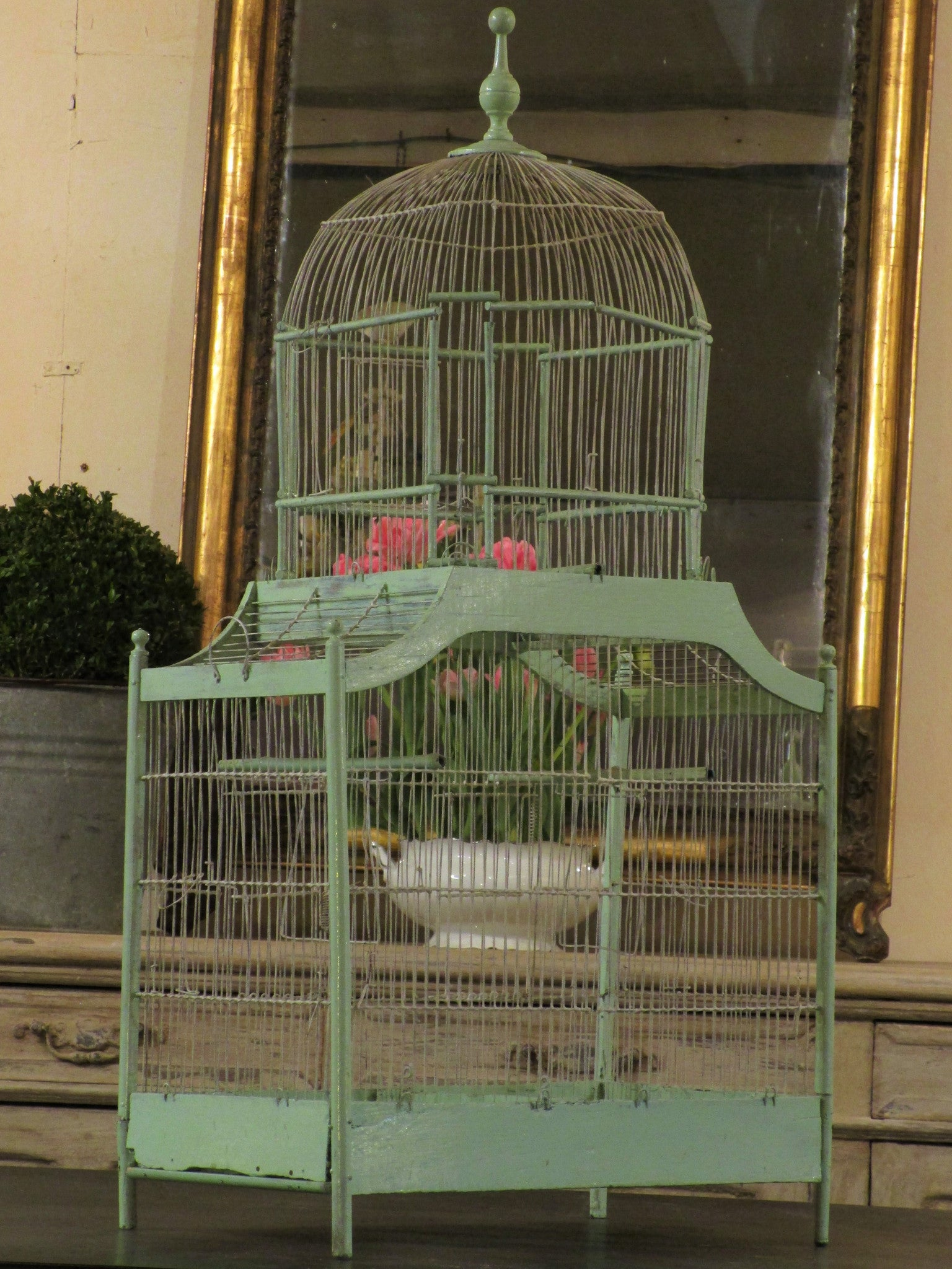 Large green birdcage 99