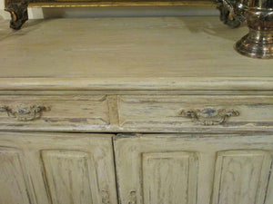 Large painted oak buffet