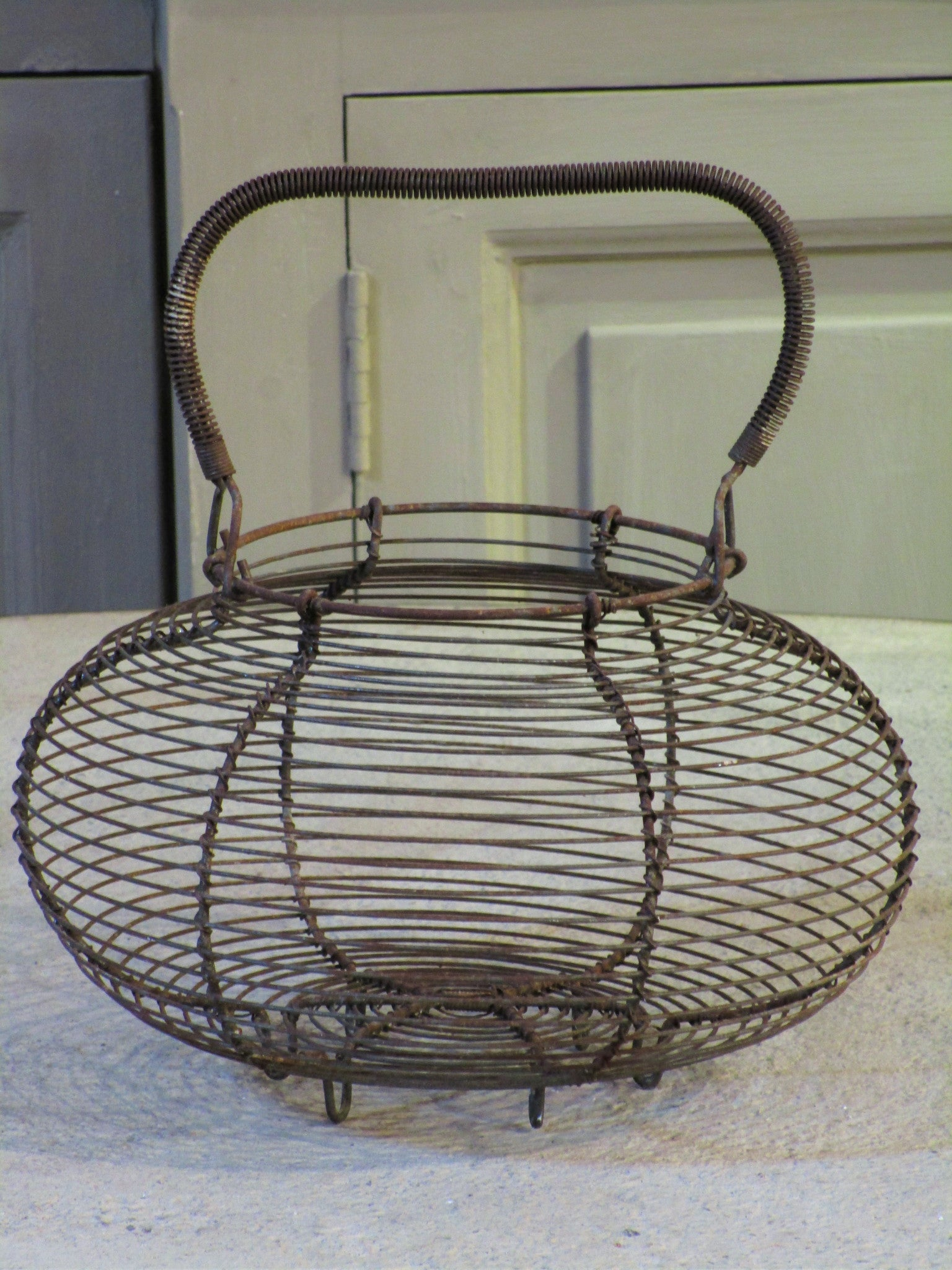 Antique wire basket
