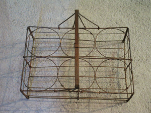 Antique bottle carrier