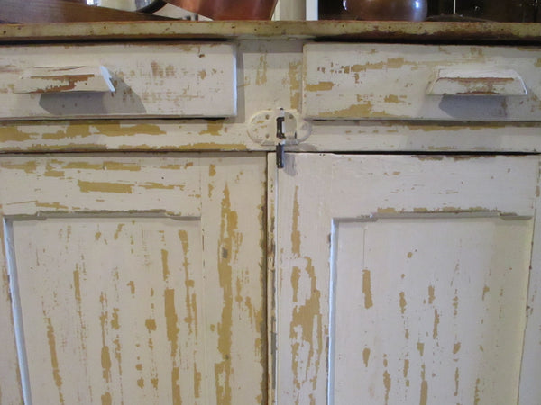 French kitchen buffet with original cream patina