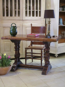 Louis XIII oak table from a chateau kitchen