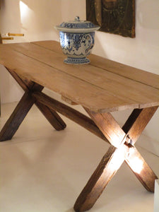 rustic 19th century farm dining table