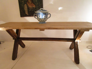 rustic antique farm dining table