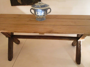 french 19th century farm dining table