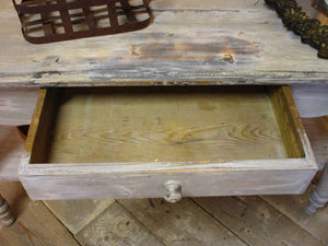 rustic french painted console