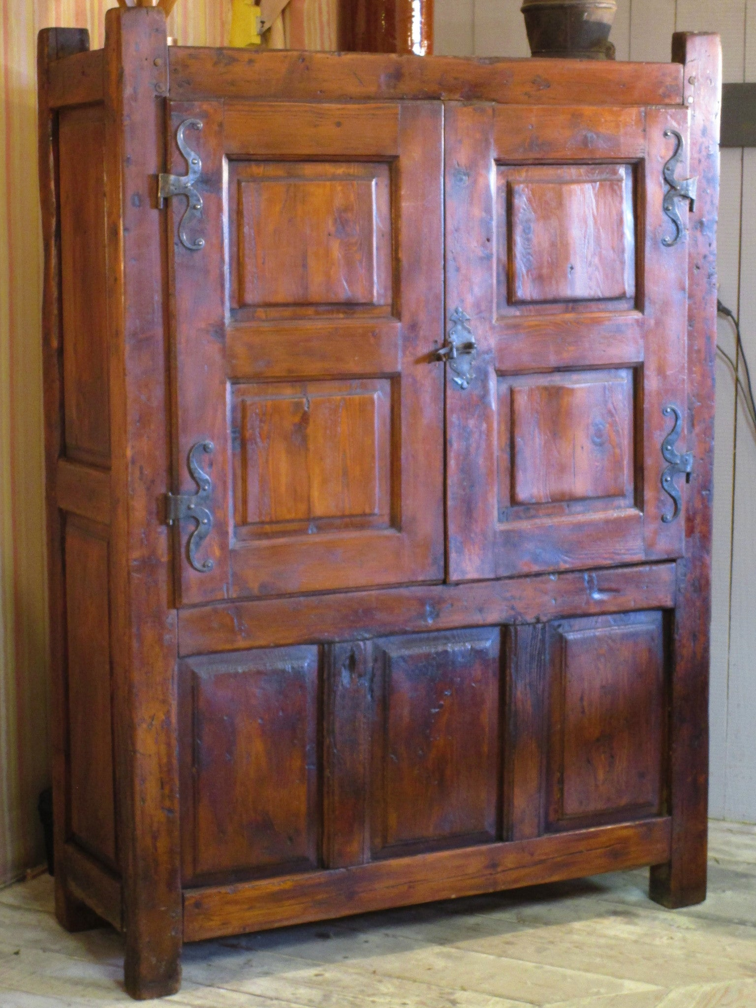 18th century chestnut ardeche armoire