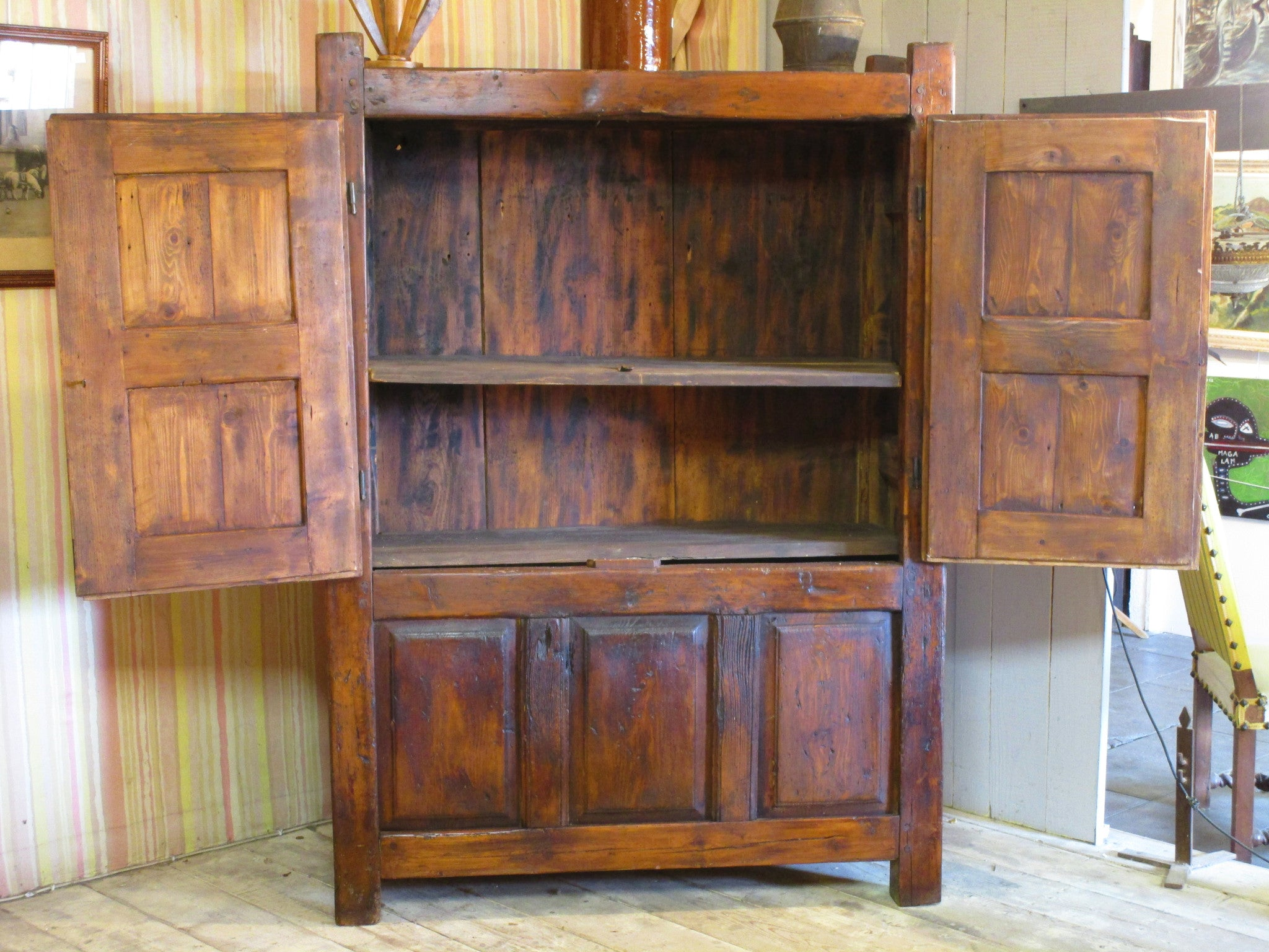 Antique chestnut armoire