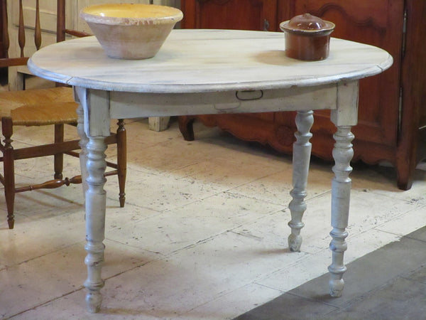 oval folding louis philippe table entryway
