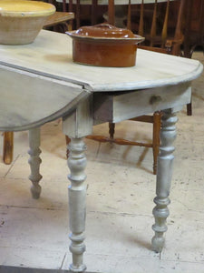 oval folding louis philippe table