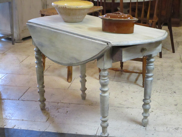 oval folding louis philippe table kitchen