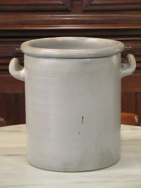French glazed grey pot