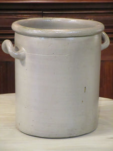 glazed grey pot
