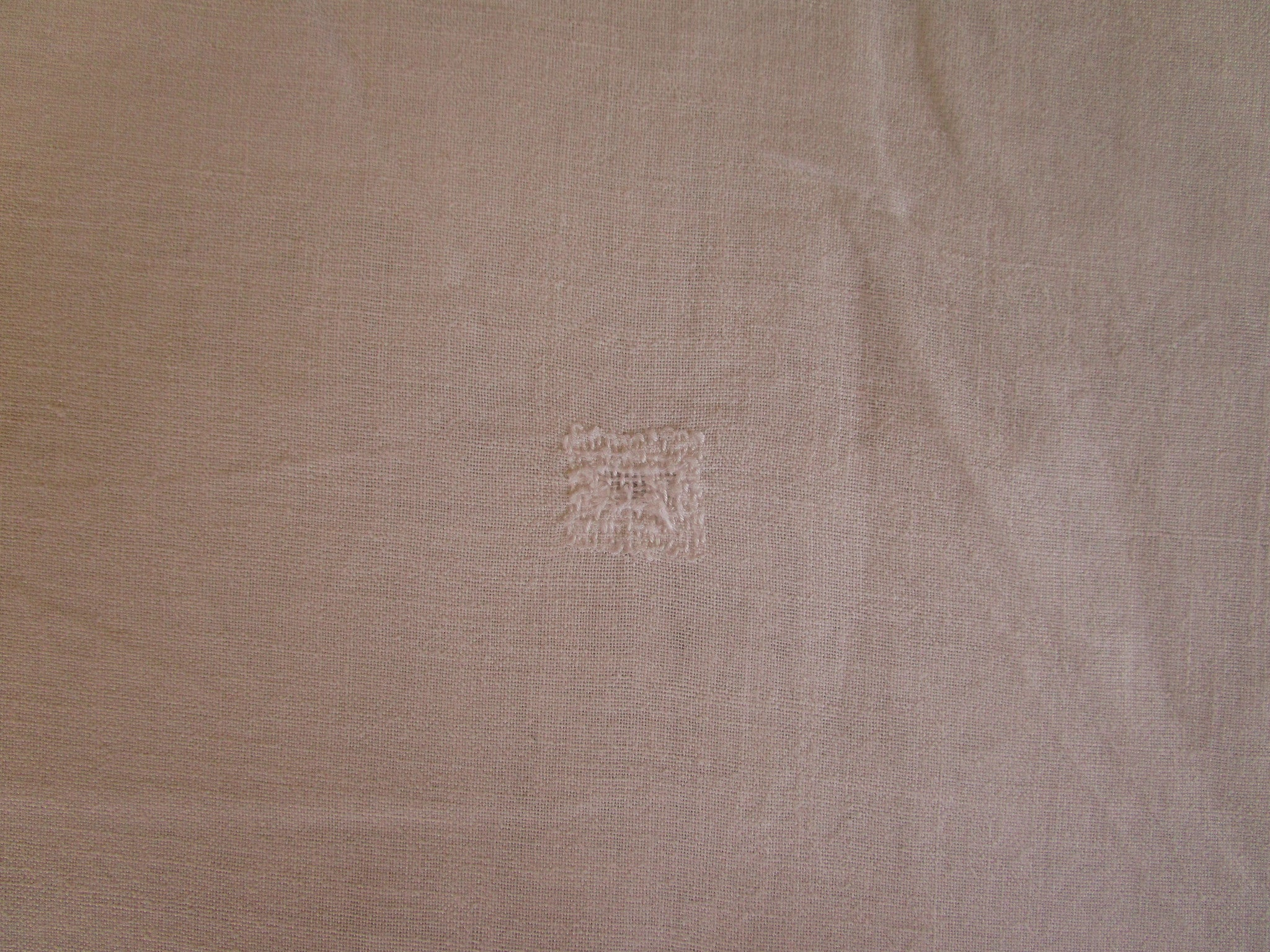 antique french linen bed sheet jb monogram 4