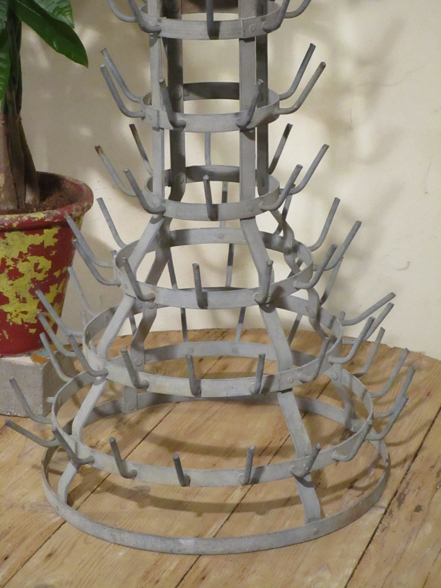 Base detail French bottle tree galvanized porcupine - cellar