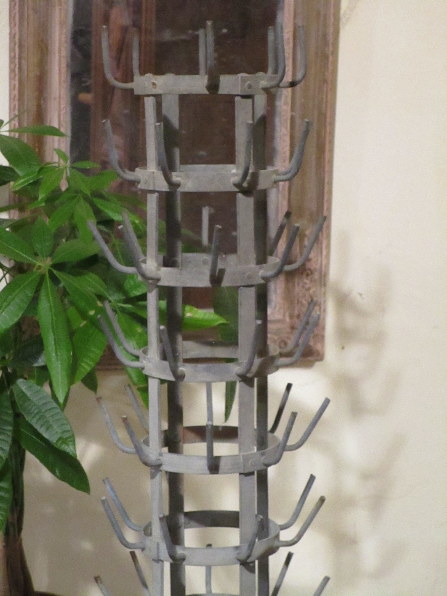 Top detail French bottle tree galvanized porcupine