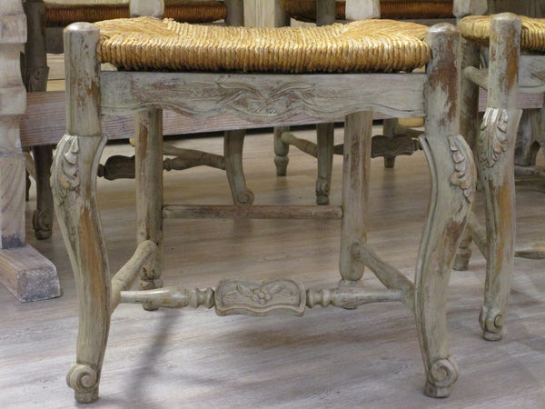 Set of four Gustavian farmhouse chairs