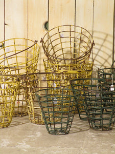 Vintage golf ball baskets green and yellow collection
