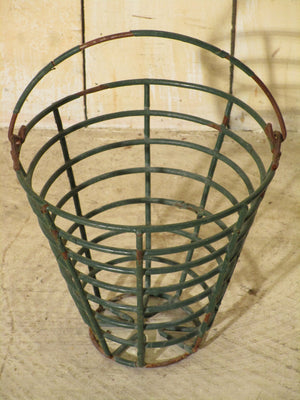 Vintage golf ball baskets green small