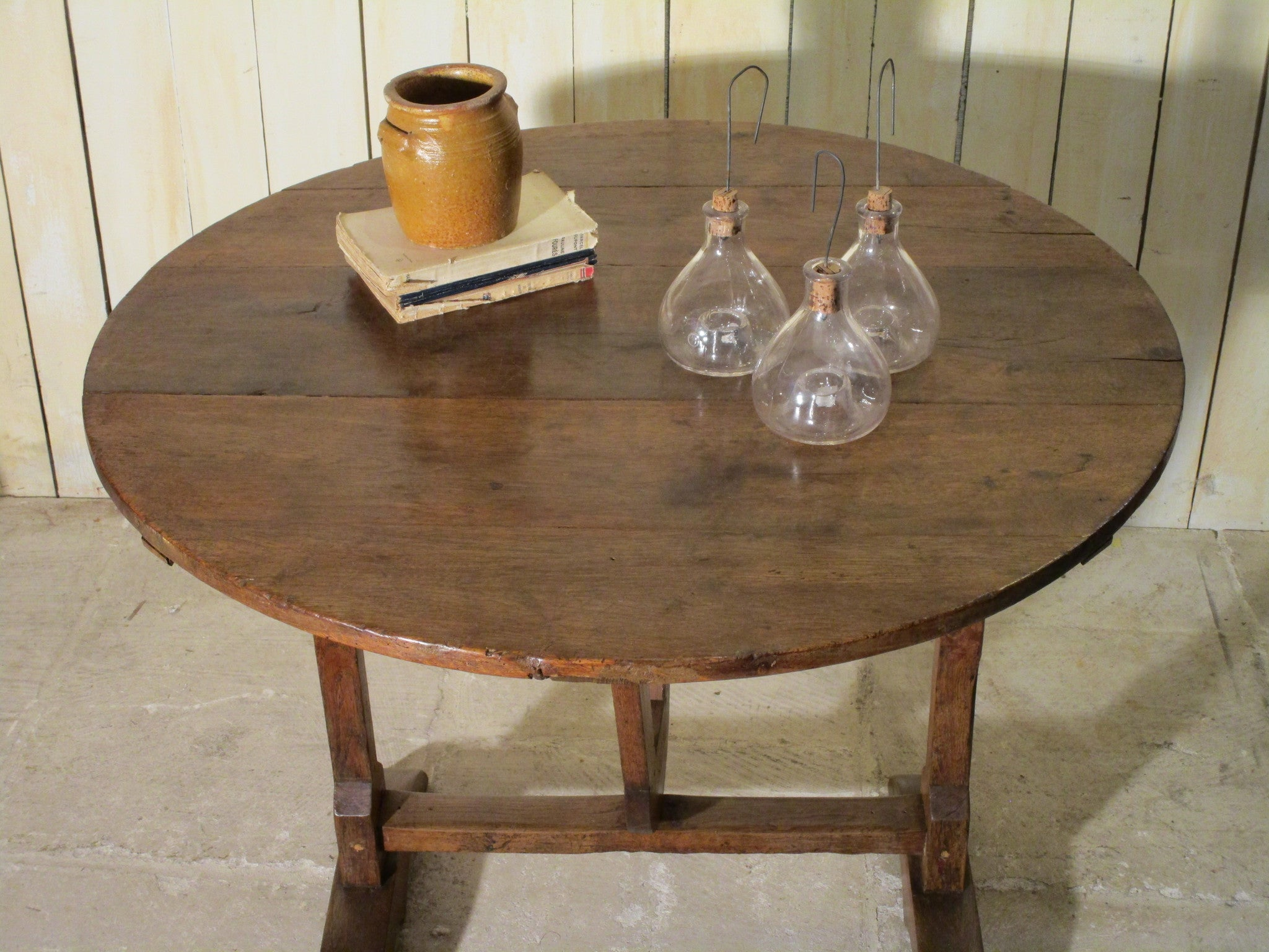 19th century French oak vigneron table