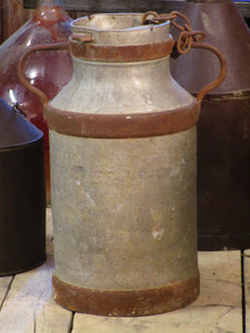 Large mid-century French milk churn