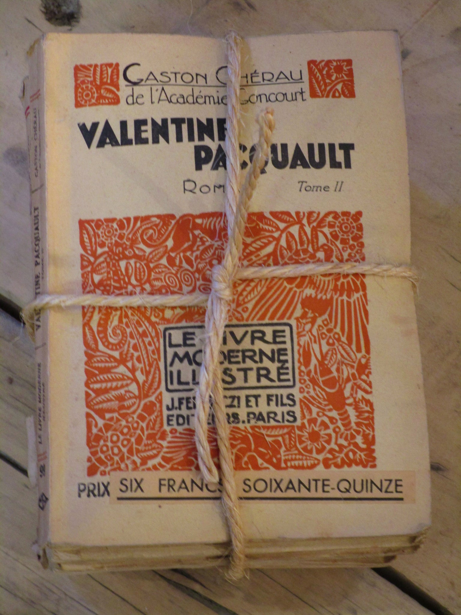 Bundle of vintage French books