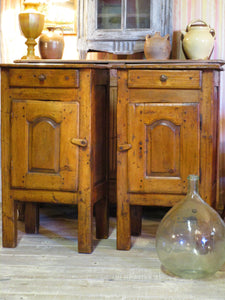 19th century rustic confituriers side table cabinet