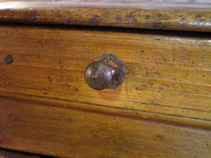 Drawer detail - 19th century rustic confituriers side table cabinet