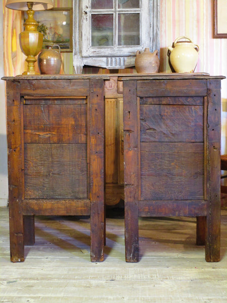Backs - 19th century rustic confituriers side table cabinet