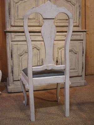 Back - Set of four oak Chippendale dining chairs