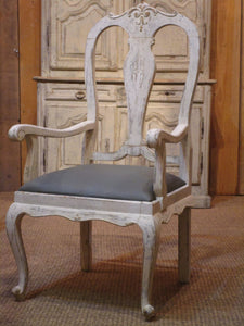 Oak Chippendale armchair