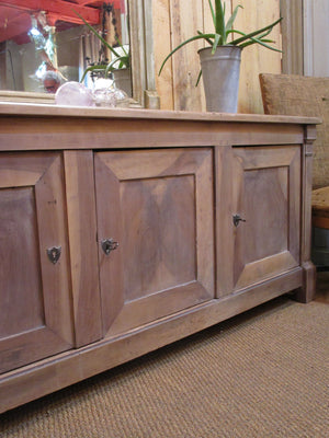 Original French directoire walnut storage cabinet