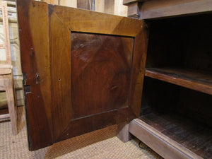 Door detail - Original French directoire walnut buffet cabinet