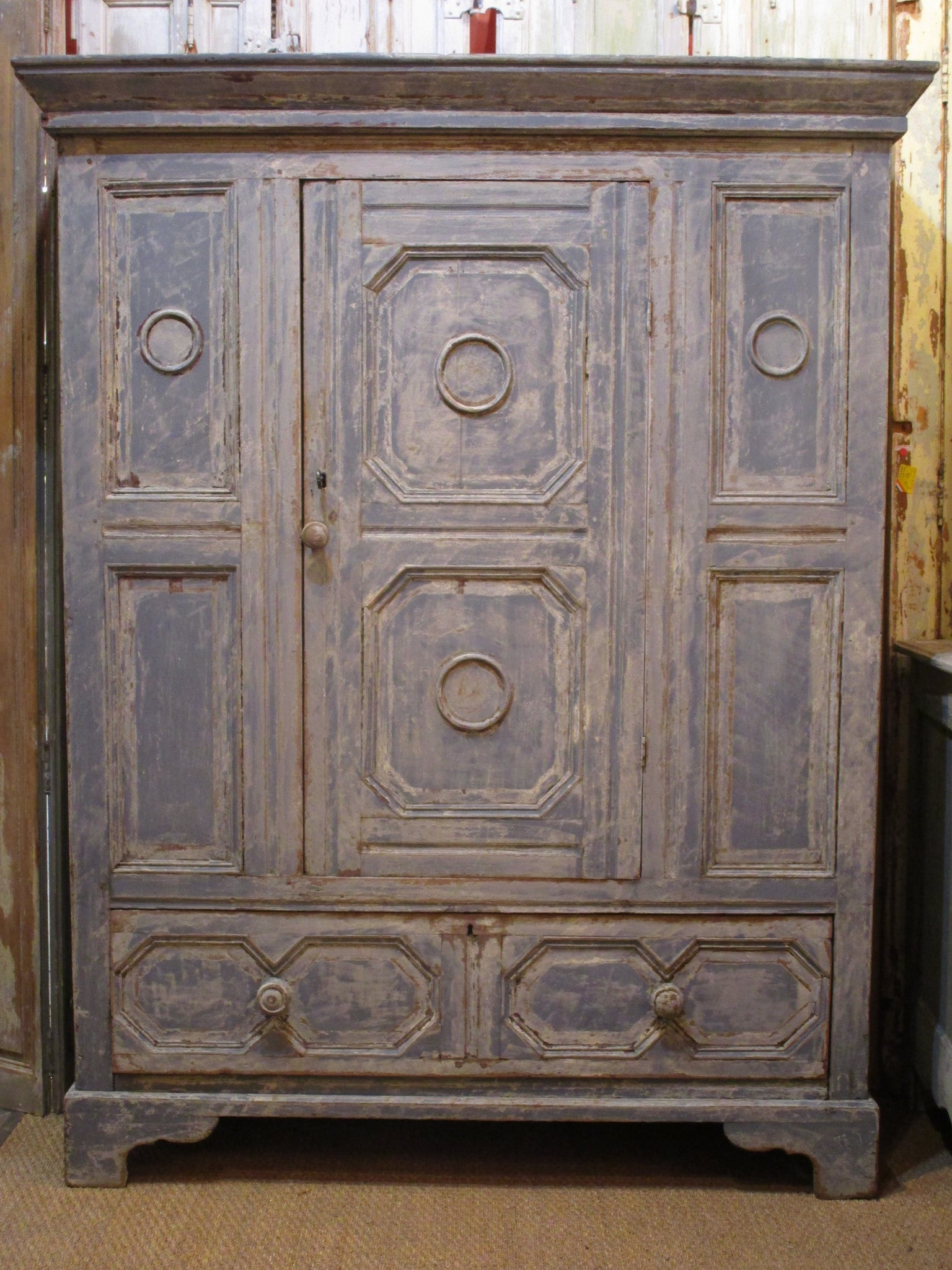 Early 18th century french oak voyage armoire
