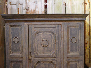 Early 18th century french oak voyage armoire compact
