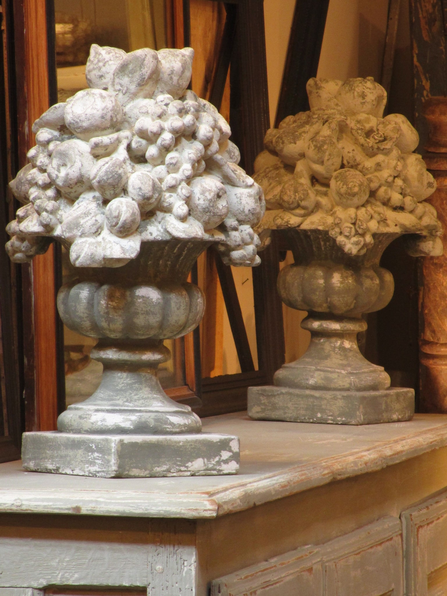 Pair of French garden finials